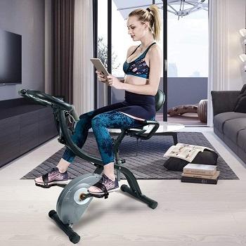 Vélo d'appartement avec dossier conclusions